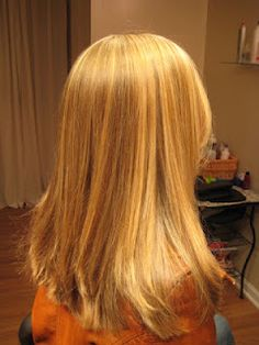Golden Blonde Highlights on Natural Red Hair