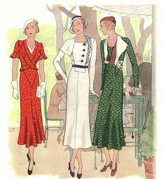#Fashion Illustration#Historia de la moda 1930-1940 / SI TOCO ROCK