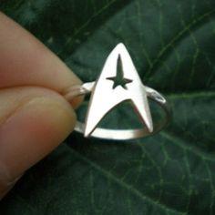star trek ring command insignia ring jewelry - Star Trek Wedding Ring