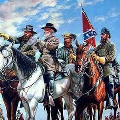 Longstreet, Lee, Stuart, and Jackson