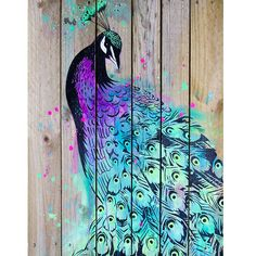 This is a print of an original painting by Maria Harding. The painting was created using intricately hand cut stencils and acrylic paint onto reclaimed wood and is a joyful celebration of the magnificant peacock bird! Peacock Decor, Peacock Art, Peacock Colors, Peacock Crafts, Peacock Design, Peacock Feathers, Graffiti, Stencil Art, Stencils