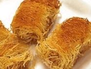 My cousin from Greece showed me how to make this pastry. It is real easy and tastes amazing. Greek Appetizers, Greek Desserts, Greek Recipes, Pastry Recipes, Dessert Recipes, Kataifi Pastry, Home Recipes, Healthy Recipes, Greek Cookies