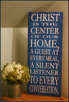 Christ Is The Center Of Our Home - Wall Hanging - Silhouette Cameo Idea
