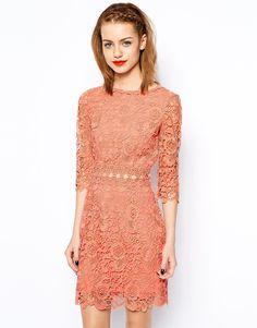 New Look Crochet Waist Trim Dress