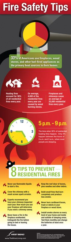 Fire Prevention: Fire Safety Tips Infographic [ shop.coldfiresoutheast.com ] #prevention #fire #safety