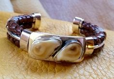 Jewelry OFF! This bracelet is hand-braided leather over heavy silver round wire (virtually unbreakable.) The elk ivories are mounted onto a heavy silver plate. Antler Jewelry, Pearl Jewelry, Men's Jewelry, Jewelry Ideas, Elk Ivory, Tiger Cubs, Tiger Tiger, Bengal Tiger, Bone Carving