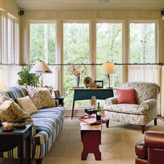 Living Room Decorating Ideas: Add Privacy Without Losing Light < Style Guide: 90 Living Room Decorating Ideas - Southern Living  Like oversized chair