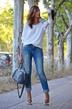 Ella Luna Blouse, Rich & Royal Jeans, L.K.Bennett Sandals, Fun & Basic Bag