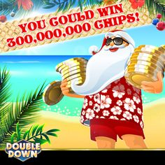 There are only two days left to take part in our Christmas in July sweepstakes! Have you played three slot games today?  Here are 300,000 FREE chips to start you off today! Just tap the Pinned Link, or use code WHVFTL.  For full contest rules, please visit our Facebook page! And remember to check our Facebook, Twitter, and Instagram pages for more free chips today and tomorrow!