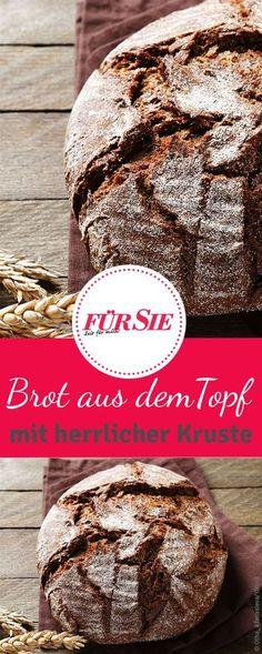 Wir verraten euch, wie ihr ein aromatisches Brot ganz einfach im Topf backen könnt. Der Geschmack des Brotes und die herrliche Kruste werden euch garantiert überzeugen!