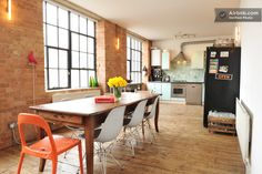 An East London loft home.  I want to stay somewhere like this when I visit.