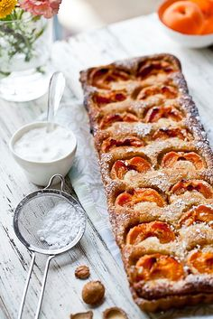 Apricot and Almond Tart: