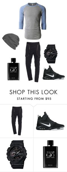 """""""going out"""" by nathanhaw0865 ❤ liked on Polyvore featuring LE3NO, Faith Connexion, NIKE, G-Shock, Giorgio Armani, Outdoor Research, men's fashion and menswear"""