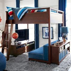 Hampton Convertible Loft Bed from PBteen. Saved to Jackson's Room. Shop more products from PBteen on Wanelo.