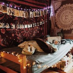 Bohemian room, indie dorm room, boho dorm room, dorm room art, co Indie Dorm Room, Dorm Room Art, Boho Dorm Room, Bohemian Bedroom Decor, Bohemian Dorm, Hippie Dorm, Boho Decor, Hippy Room, Dorm Room Organization