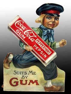Cardboard Coca Cola Chewing Gum Dutch Boy Die-Cut  -   Lot 1326- SOLD at Auction FOR $17,500.00