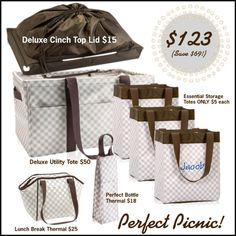 """Taupe Gingham Picnic Bundle"" by casey-pintaric-chan on Polyvore Order at: Mythirtyone.com/npowell"