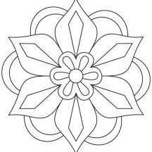 Awesome Picture of Rangoli Coloring Page