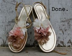 DIY Style How To Embellish T-Strap Sandals by Kristina J.