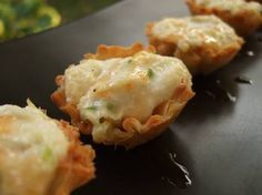 Crab Rangoon Tartlets with Sweet Chili Drizzle