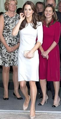 Middleton supported the opening of a children's unit at the Royal Marsden cancer center in London in a three-quarter sleeve Amanda Wakeley dress. The $700 style sold out almost immediately after the Duchess wore it.