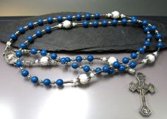 Catholic Rosary  Lourdes centenary jubilee 1958 by RosenkranzAtelier on Etsy