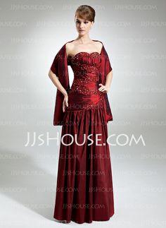 Bridesmaid Dresses - $128.99 - A-Line/Princess Sweetheart Floor-Length Taffeta Bridesmaid Dress With Ruffle Beading (007002098) http://jjshouse.com/A-Line-Princess-Sweetheart-Floor-Length-Taffeta-Bridesmaid-Dress-With-Ruffle-Beading-007002098-g2098