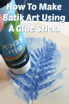 In this easy tutorial, I show you how to make a gorgeous piece of batik art using a glue stick and home-made fabric paint. Fabric Painting, Fabric Art, Fabric Crafts, Fabric Design, Watercolor On Fabric, Glue Painting, Vinyl Fabric, Felt Fabric, Cotton Fabric