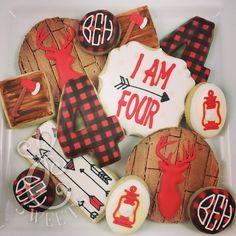 Lumberjack and camping cookies