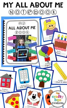 This is the CUTEST All About Me Book to work on with preschool and kindergarten students. The printable craft patterns are super friendly and easy for kids to cut. A perfect addition to an All About Me theme and lesson plan for the year.
