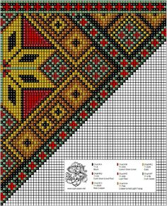 bringeklut 139 A Cross Stitch Charts, Cross Stitch Designs, Cross Stitch Patterns, Knitting Patterns, Crochet Patterns, Cross Stitch Cushion, Beads Pictures, Sampler Quilts, Tapestry Crochet