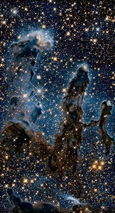 """Hubble Space Telescope Remember the """"Pillars of Creation,"""" the star-forming nursery in the heart of the Eagle Nebula? Cosmos, Hubble Space Telescope, Space And Astronomy, Telescope Craft, Space Photos, Space Images, Fotos Do Hubble, Hubble Pictures, Telescope Pictures"""