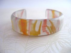 Tiger stripped resin cuff