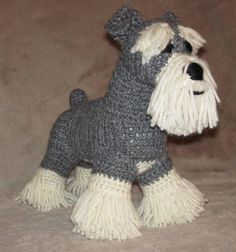 Schnauzer PDF Crochet Pattern pattern on Craftsy.com