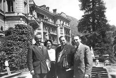Radiestesia Congresso em Locarno em 1956  deixou o Sr. Vandenhoff, CIER e três amigos radiestesistas.