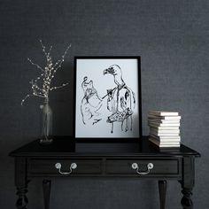 Geier D143 Fine Art Prints, Poster, Design, Vulture, Picture Frame, Art Prints, Design Comics, Posters, Movie Posters