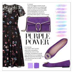 """International Women's Day: Purple Power"" by hodziceva ❤ liked on Polyvore featuring Pretty Ballerinas, Gucci, Brush Strokes, purplepower, internationalwomensday and pressforprogress"