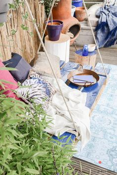 Bohemian tuin hangstoel pallet STEK Magazine ©BintiHome