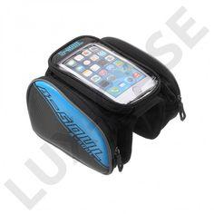 B-SOUL Sykkel bag med avtakbar bag for 4.2'' smarttelefon - Blå - GRATIS FRAKT!