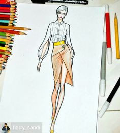 Fashion Illustration Speed Painting with Ink - Drawing On Demand Fashion Figure Drawing, Fashion Drawing Dresses, Fashion Illustration Dresses, Drawing Fashion, Fashion Design Illustrations, Fashion Design Sketchbook, Fashion Design Drawings, Fashion Sketches, Moda Fashion