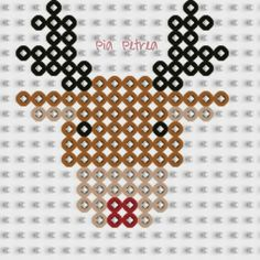 Rudolph Christmas perler pattern by Pia Petrea