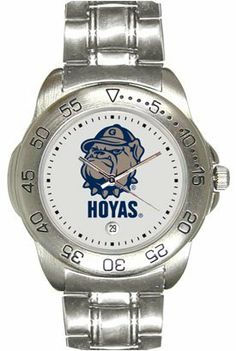 Georgetown University Hoyas Mens Sports Steel Watch by SunTime. $49.95