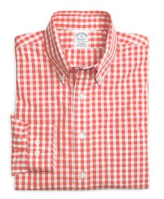 Coral Brooks Brothers Gingham