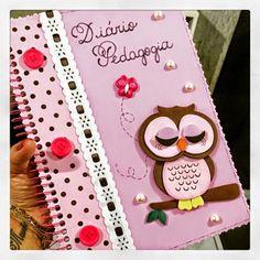 Gente, olha que linda ideia da AnaluhMoreira .  Um caderno maravilhoso. Ideal para quem está cursando pedagogia ou mesmo para seu caderno ...