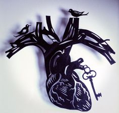 Original Paper Cut silhouette anatomical by evillittlefingers