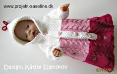 Opskrif Baby Born - www. Knitting Dolls Clothes, Doll Clothes, Doll Toys, Baby Dolls, Doll Patterns, Knitting Patterns, Baby Born Clothes, Knit Crochet, Crochet Hats