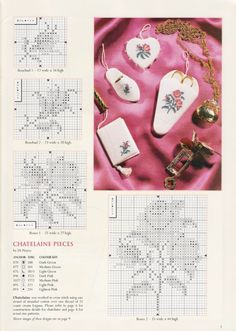 Roses Chatelaine • 3/5 Charts for Pin Wheel, Thimble Slipper, Scissor Sleeve and Note Book