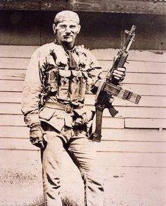 MACV-SOG soldier with a Chinese Type 56 Chest Rig and a Stoner 63 ~ Vietnam War