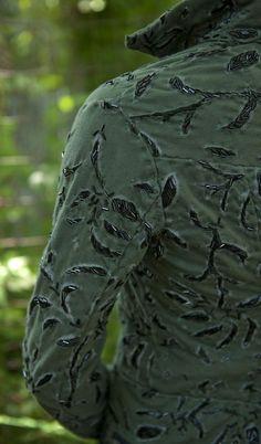 "thisbeadifulworld: "" Short beaded jacket by Alabama Chanin Elaborately hand-stitched in 100% organic cotton jersey, collared Jacket - beaded with bugle beads. """