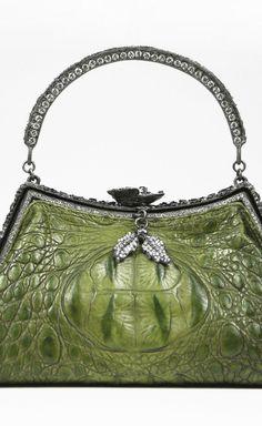 Emerald green doctor bag purse
